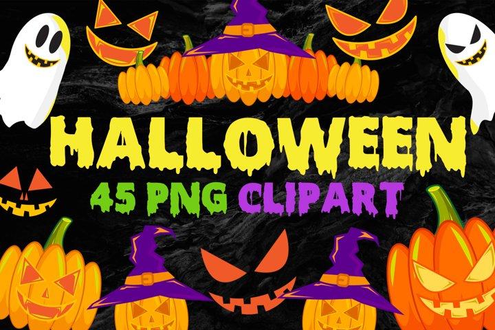 Halloween Clip Art PNG Files