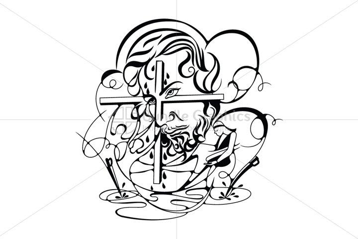 Jesus Christ - Abstract Illustration
