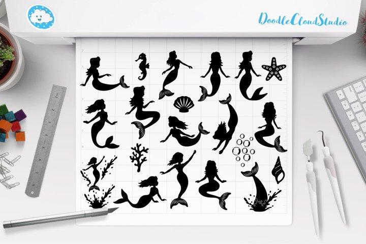 Mermaid SVG, Mermaids Bundle SVG Cut Files, Mermaid Clipart.