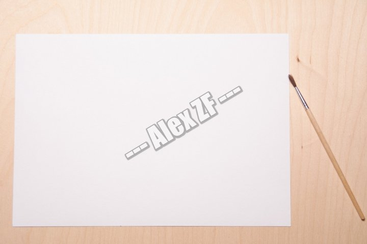 White sheet on a wood background