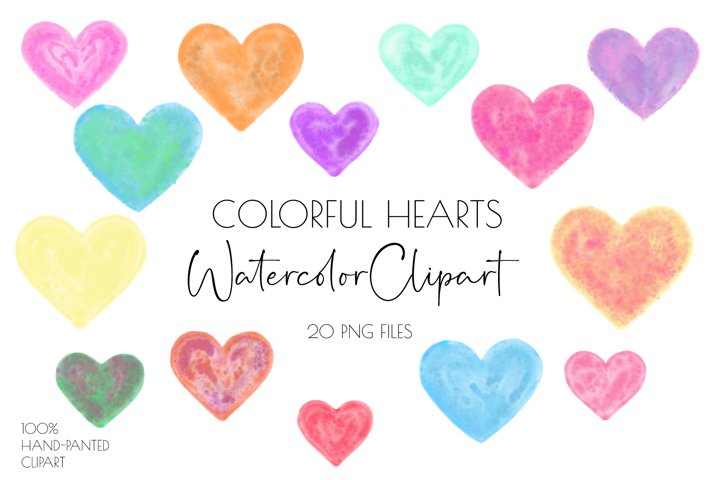 Valentine clipart,Watercolor clipart,Heart Clipart
