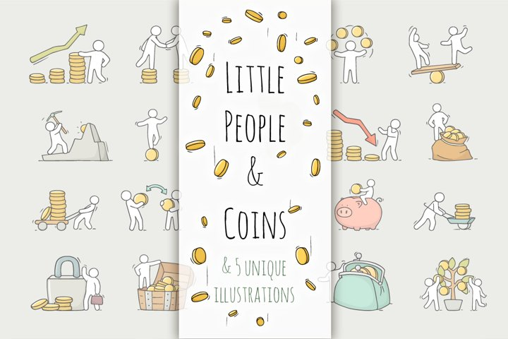 Little People and coins