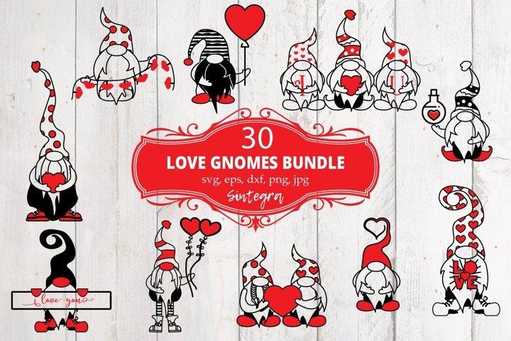30 Valentine Love Gnome Svg Bundle