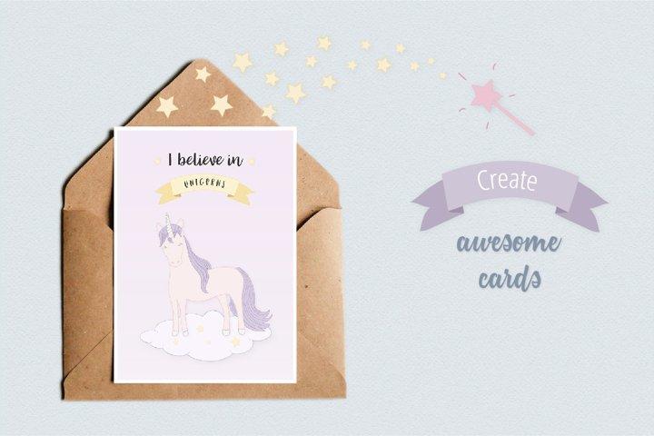 Cute Funny Unicorn Illustration Set - Free Design of The Week Design3
