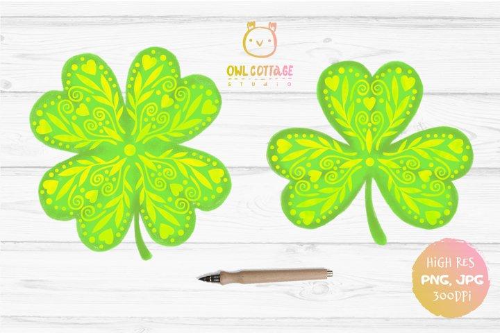 St. Patricks day sublimation, Clover Leaf, Sublimation Desig