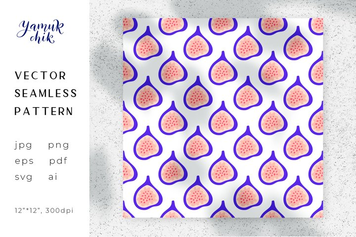 Figs fruit Digital Paper png, seamless vector figs pattern