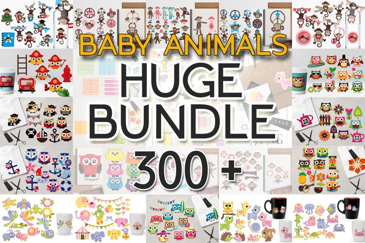 Huge Graphics Bundle - Baby Animals Illustrations