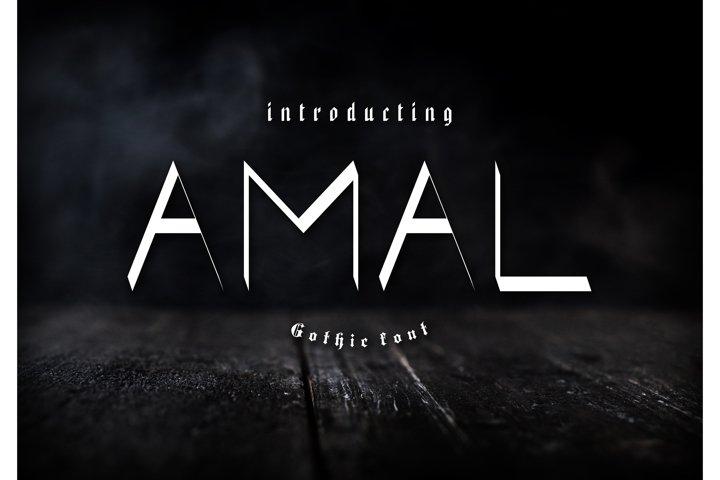 Amal Gothic Font