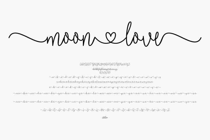 moonlove - wedding font
