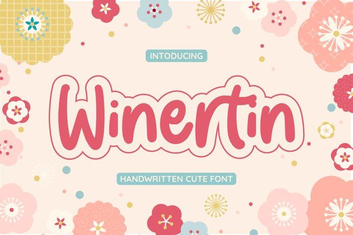 Winertin | Cute Font
