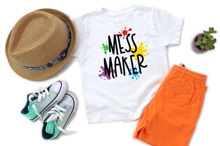 Funny Kids SVG - Mess Maker