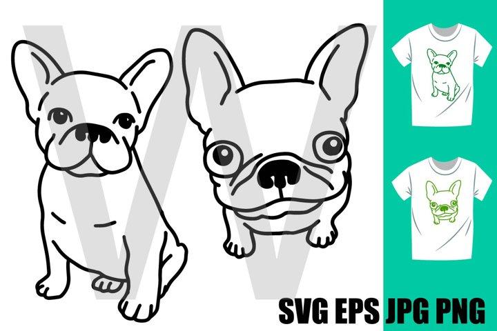 French Bulldog Set E - PNG SVG EPS PNG