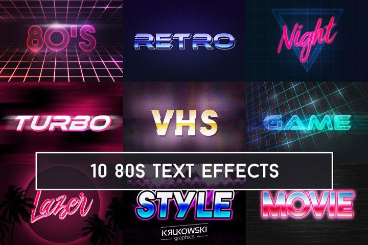 80s Retro Text Effect Mockup