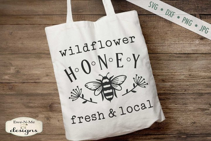 Wildflower Honey | Bee SVG