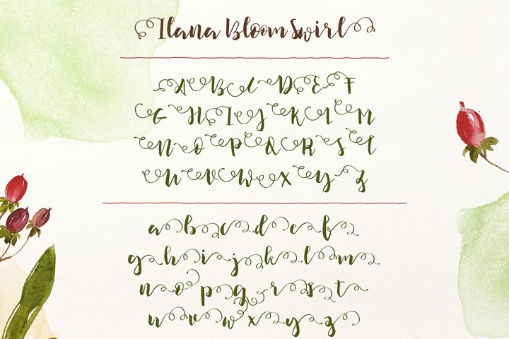 Ilana Bloom - Free Font of The Week Design5