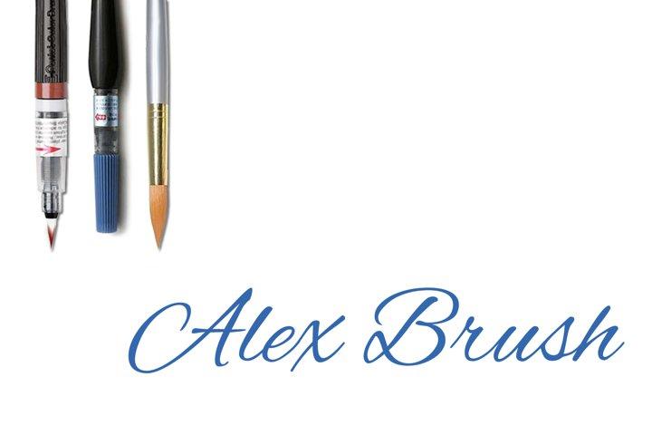 Alex Brush - Part of the Amazing Scripts Bundle!