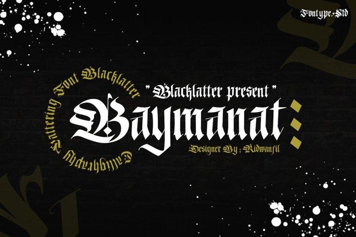 Baymanat - Callighraphy Blacklatter
