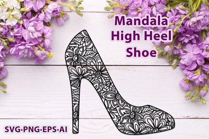 Mandala High Heels Womens Shoe. Girls Fashion Design