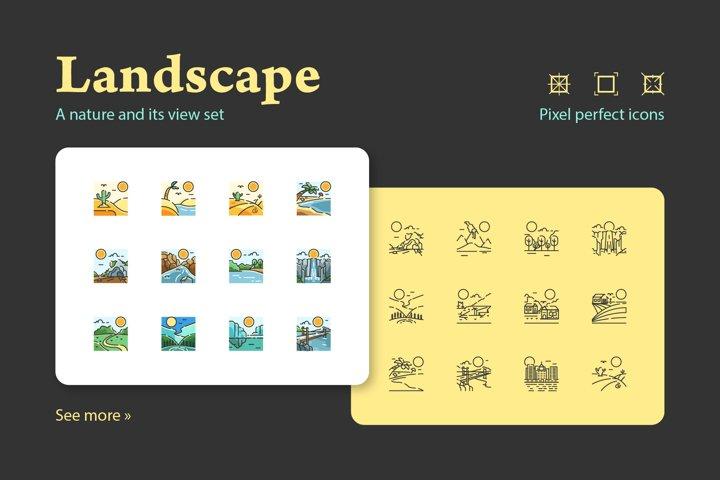 Landscape Nature Icon Set