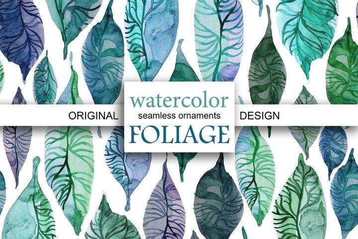 WATERCOLOR FOLIAGE|patterns & motifs