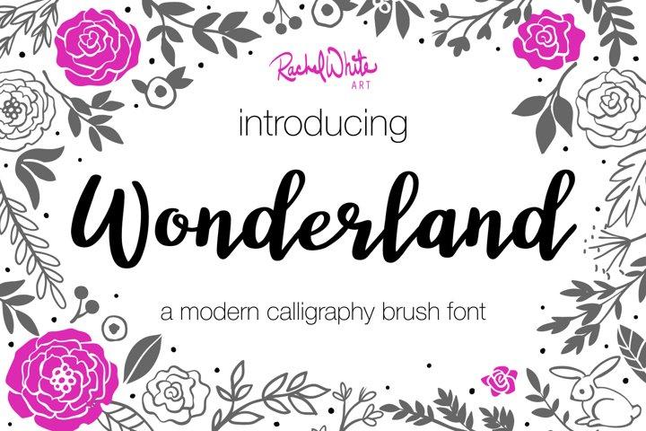 Wonderland, a modern calligraphy font - Free Font of The Week Font