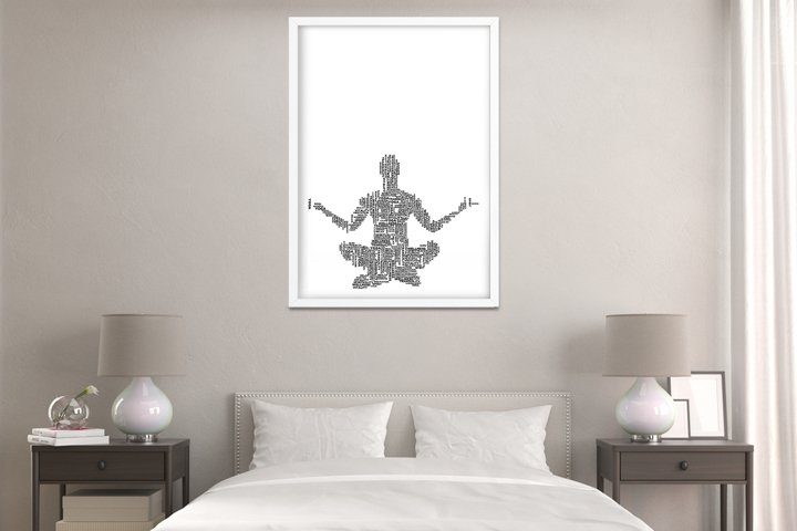 Yoga Words Digital Print Frame not included