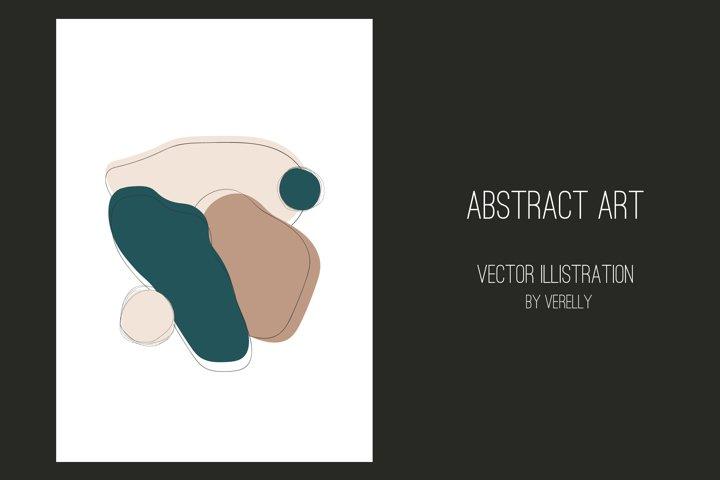 Modern hand drawn abstract art in Scandinavian style
