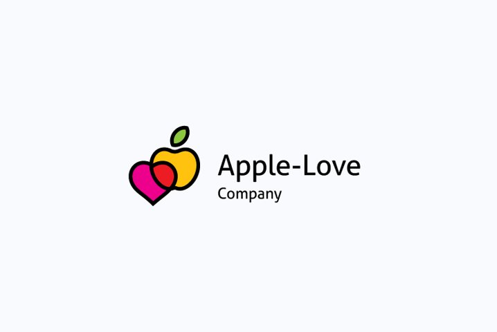 Apple love logo