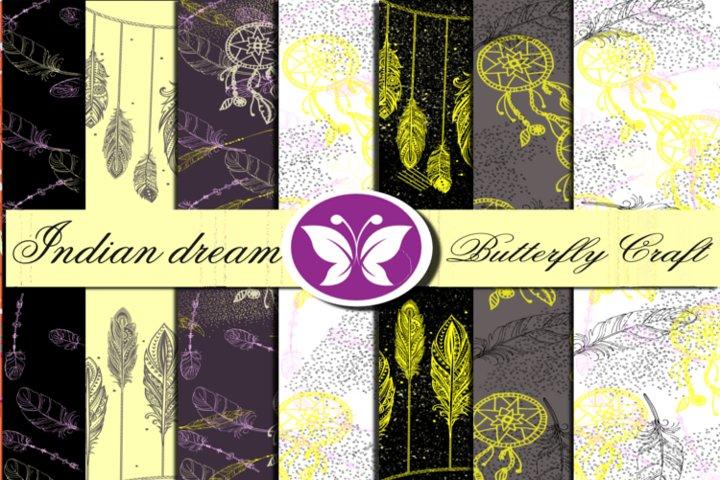Indian dream digital paper,Dream Catcher Collection