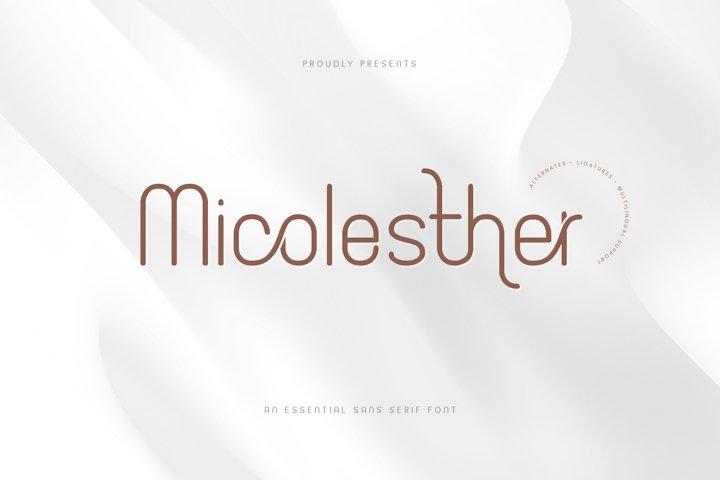 Micolesther Ligature Sans Serif