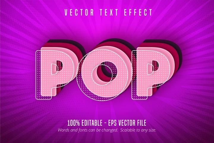 Pop text, pop art style editable text effect