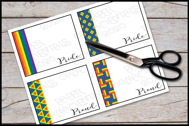 Flat Note Card, Post Card, Gay Pride Rainbow