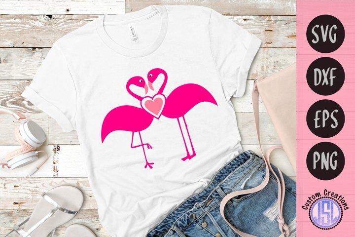 Kissing Flamingos | Flamingo SVG |SVG DXF EPS PNG