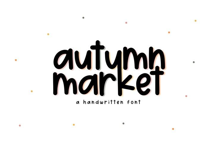 Autumn Market - A Handwritten Font