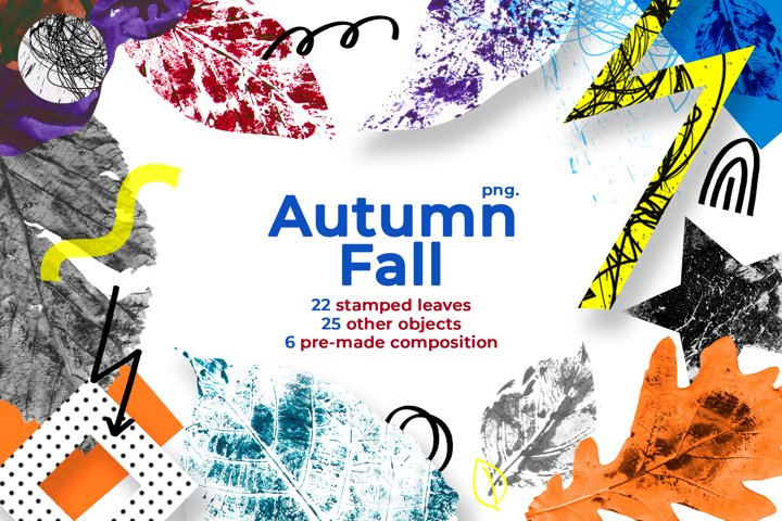 Autumn Fall Collage & Pattern