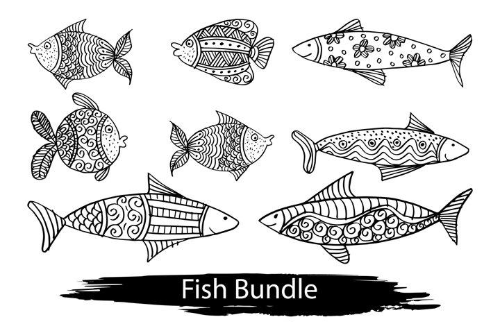 Set of decorative fish