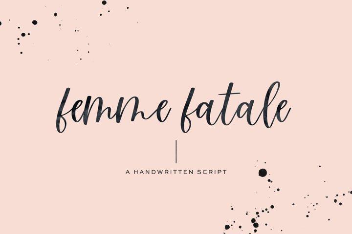 Femme Fatale Modern Calligraphy Font
