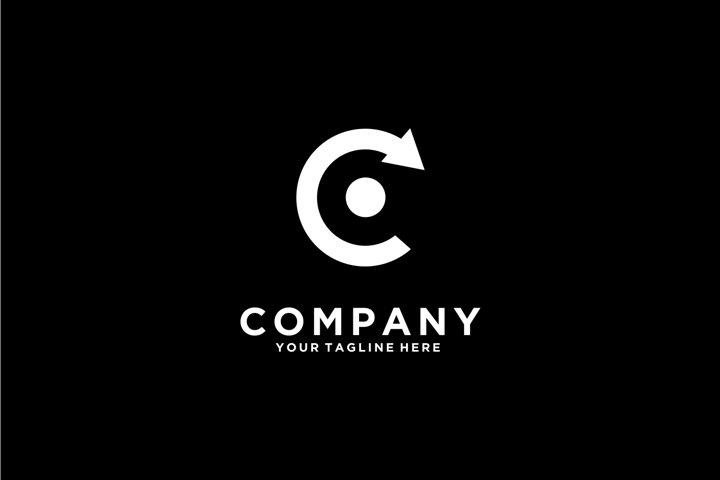 Letter C Logo Center And Arrow logo