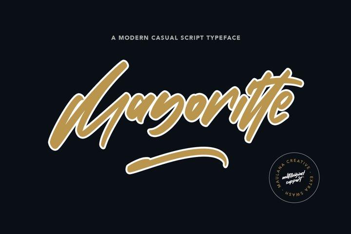 Mayoritte Modern Casual Script Typeface