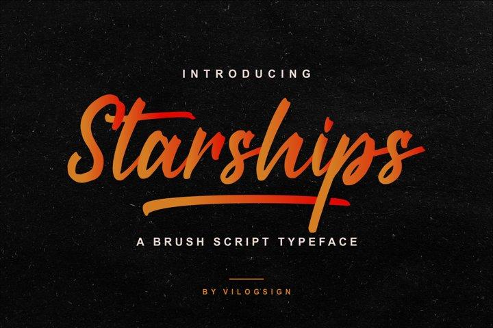 Starships a Brush Script Typeface
