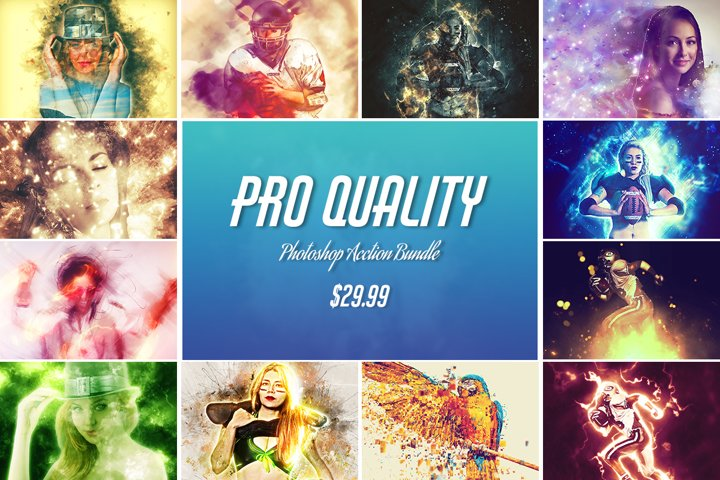 25 High Quality Photoshop Actions Bundle