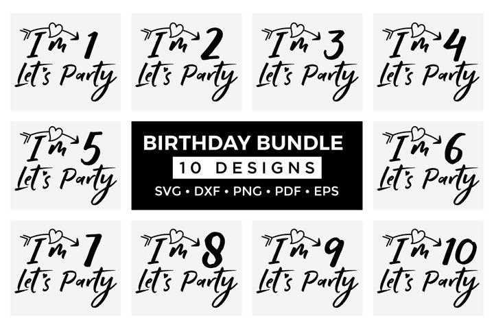 Birthday Sayings SVG Bundle, Kids Birthday Design