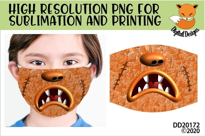 Monster Mouth Sublimation Design For Masks