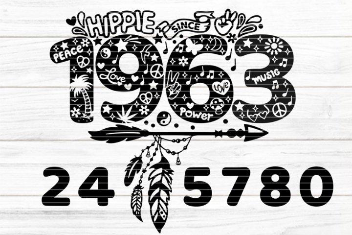 hippie since for Cutting Lasercut Print SVG DXF PDF EPS