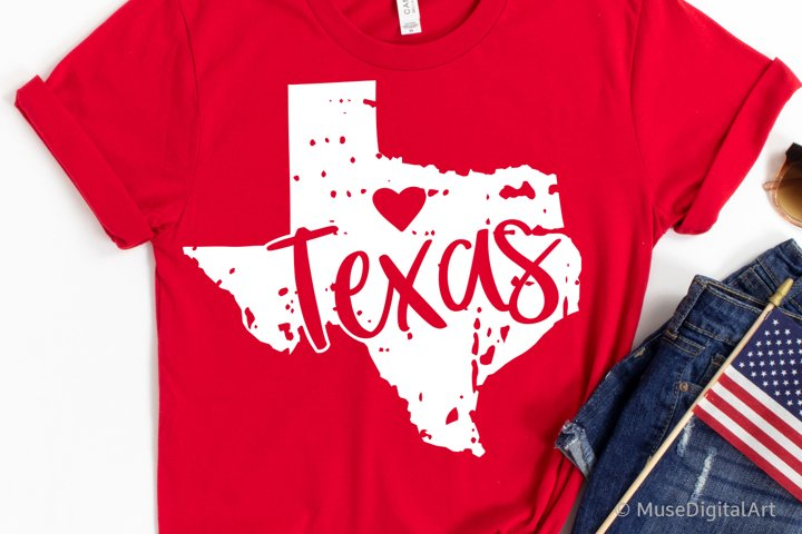 Texas Svg, Grunge Texas Map Svg, Texas Outline Svg, 4th July