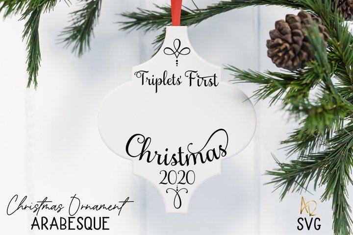 Arabesque Tile Ornament triplets First Christmas | Lantern