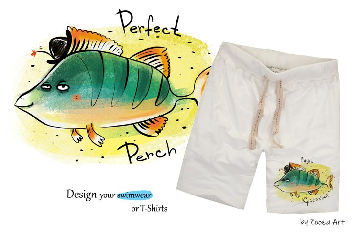 Happy River Fish - 9 illustrations example 4
