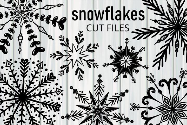 Winter Holiday Snowflake Seasonal Cut Files