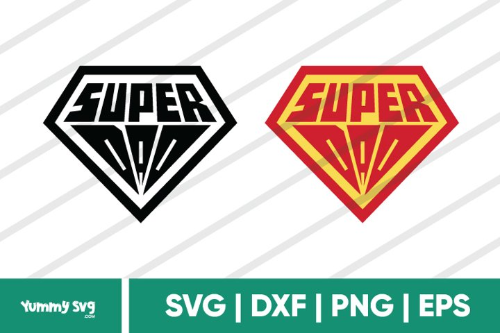 Super Dad Black & Colored - Fathers Day SVG