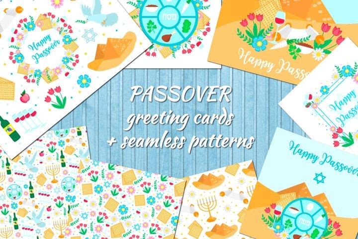 Jewish holiday Passover collection, invitation